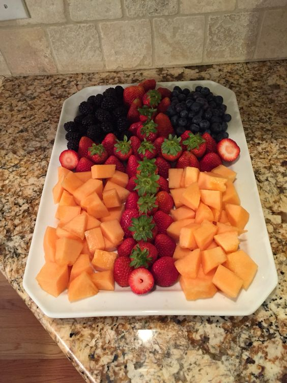 Cross Fruit Display - Baptism and Christening Party Ideas