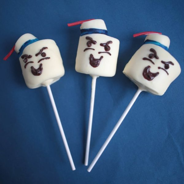 Marshmallow Pops - Ghostbusters Party Ideas