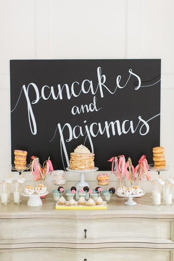Pancakes and Pajamas Slumber Party