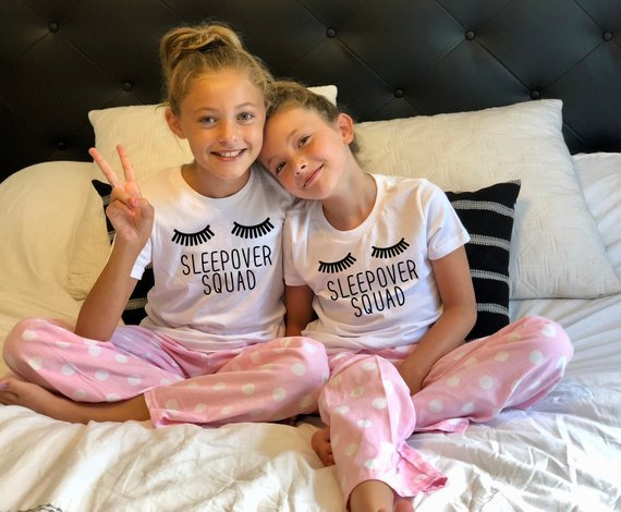 Sleep Over Squad Party Shirts