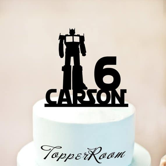 Optimus Transformers Cake Topper - Transformers Party Ideas