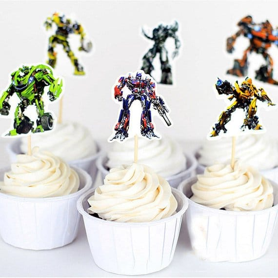 Transformers Cupcake Toppers - Transformers Party Ideas