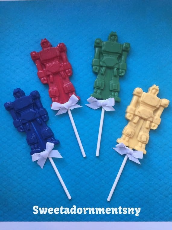 Transformers Lollipop Party Favors - Transformers Birthday Party Ideas