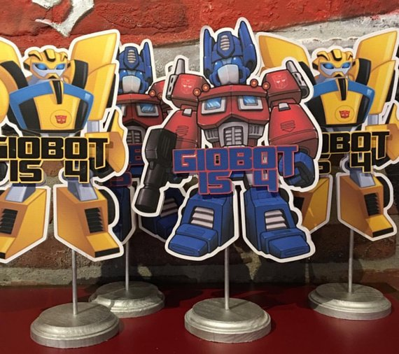 Transformers Table Centerpiece - Transformers Party Ideas