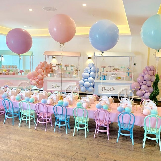 Pretty Pastel Ice Cream Birthday Party Table Decorations on Pretty My Party