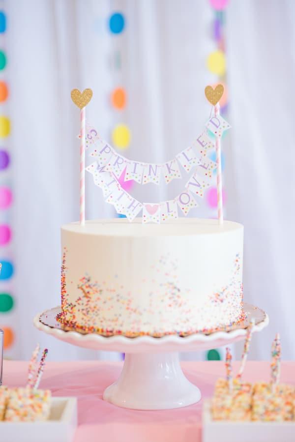Baby Sprinkle Cake - Best Baby Sprinkle Ideas on Pretty My Party