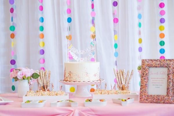 Baby Sprinkle Dessert Table