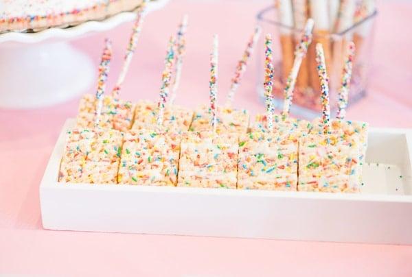Baby Sprinkle Rice Krispie Treat Dessert on Pretty My Party