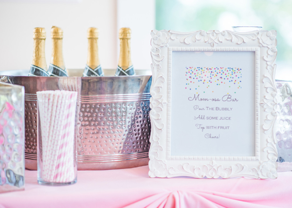Baby Sprinkle Momosa Bar on Pretty My Party