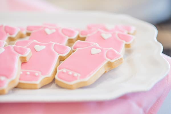 Baby Sprinkle Onesie Cookies on Pretty My Party