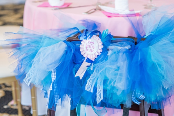 Baby Sprinkle Big Sister To Be High Chair Tutu on Pretty My Party