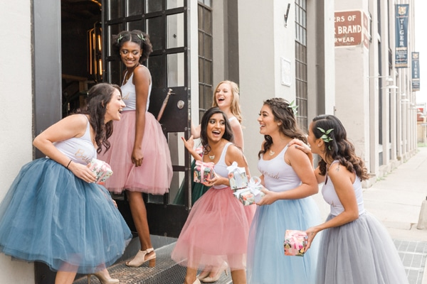 Flower Themed Bridal Shower Bridesmaid Outfits