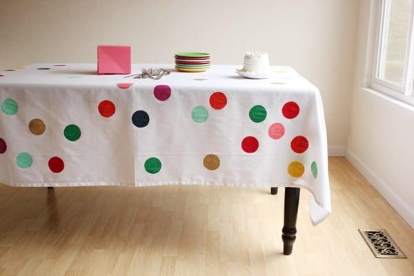DIY Confetti Tablecloth - Best Baby Sprinkle Ideas
