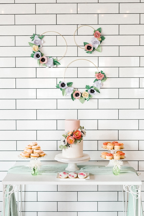 Flower Themed Bridal Shower Dessert Table