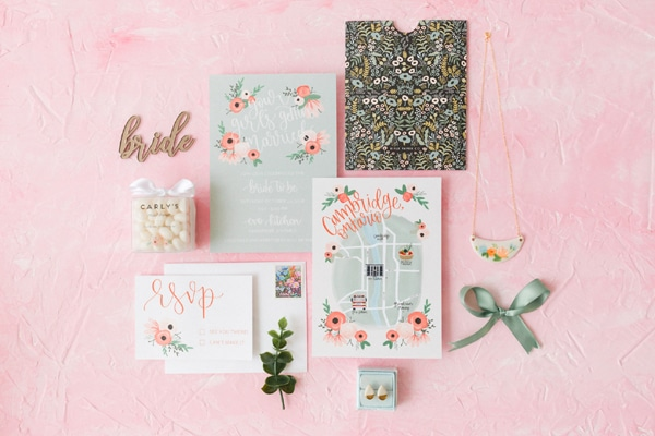 Flower Themed Bridal Shower Invitation