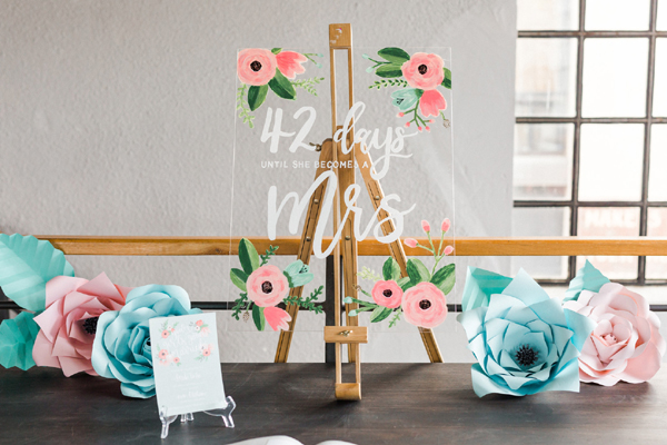 Flower Themed Bridal Shower Sign