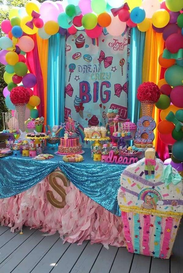 Jo Jo Siwa Dessert Table - Jo Jo Siwa Birthday Party Ideas