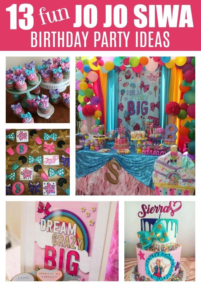 13 Fun Jo Jo Siwa Party Ideas on Pretty My Party