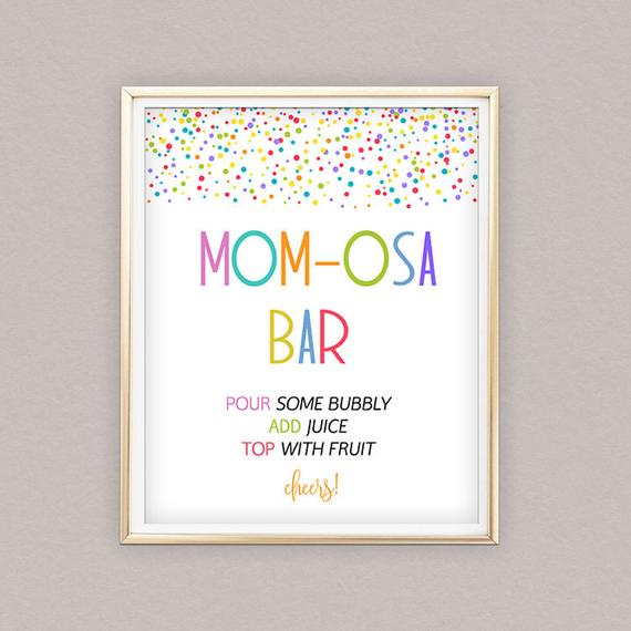 Mom-osa Bar - Best Baby Sprinkle Ideas