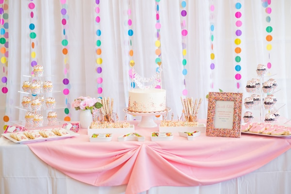 Baby Sprinkle Dessert Table on Pretty My Party