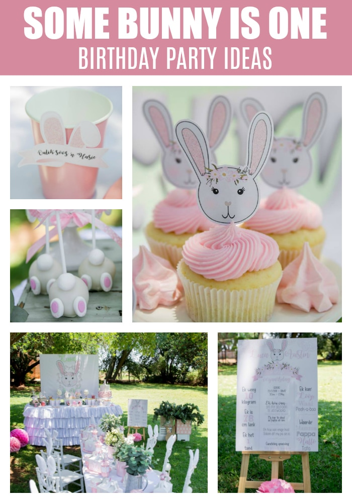 Adorable Some Bunny Is One Birthday Party on Pretty My Party