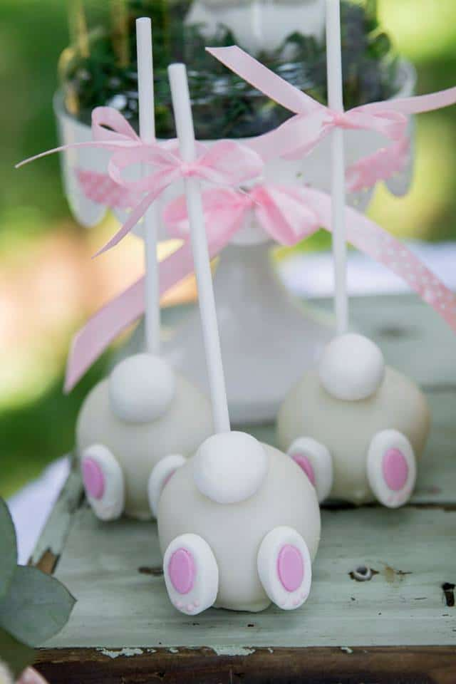 Some Bunny Is One Birthday Cake Pops - Bunny Butt Cake Pops