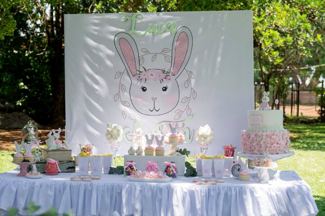 Some Bunny Is One Birthday Party Dessert Table