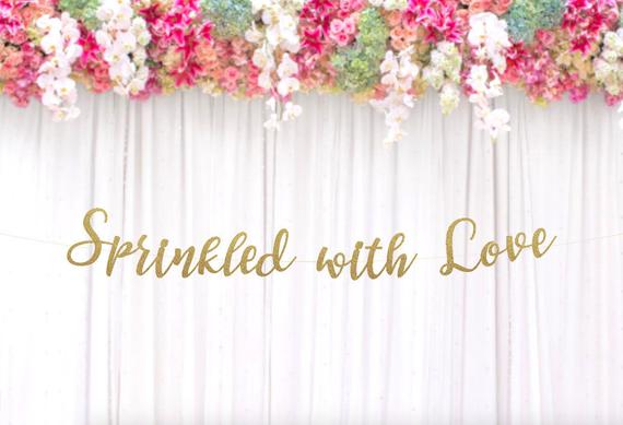 Sprinkled With Love Banner - Best Baby Sprinkle Ideas