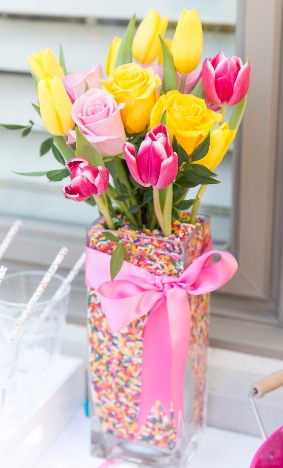 Sprinkles Flower Arrangements - Best Baby Sprinkle Ideas