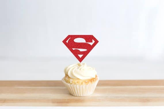 Superman Cupcake Toppers - Superman Party Ideas