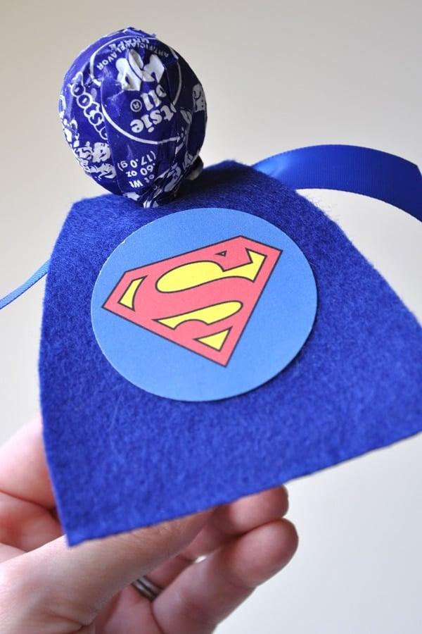 Superman Lollipop Party Favors - Superman Party Ideas