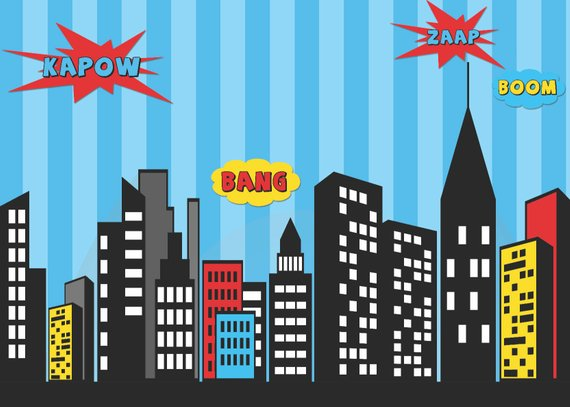 Superman Party Backdrop - Superman Party Ideas