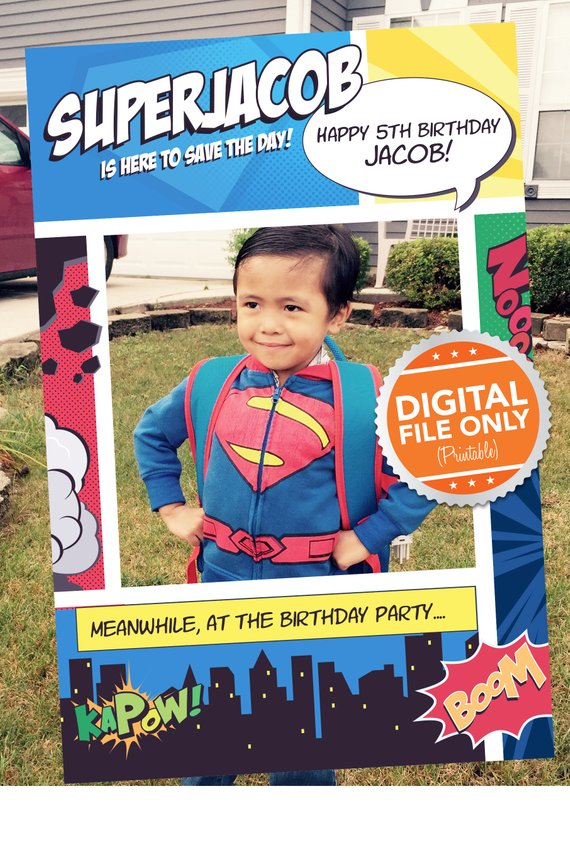 Superman Photo Booth Frame - Superman Party Ideas