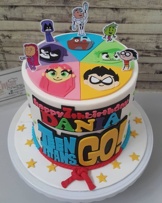 Teen Titans Go Birthday Cake - Teen Titans Go Birthday Party Ideas