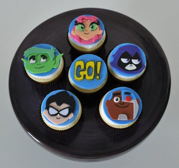 Teen Titans Go Fondant Cupcake Toppers - Teen Titans Go Party Ideas
