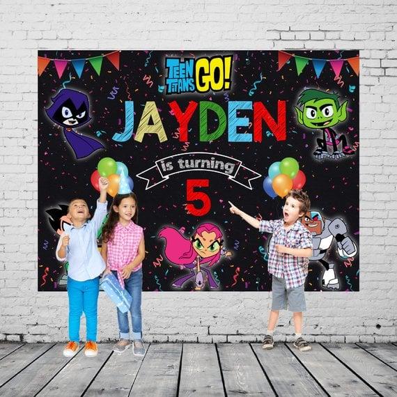Teen Titans Go Party Banner - Teen Titans Go Birthday Party Ideas