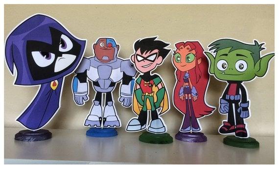 Teen Titans Go Party Centerpieces - Teen Titans Go Birthday Party Ideas