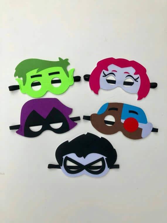 Teen Titans Go Birthday Party Masks