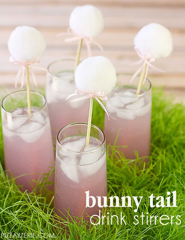 Bunny Tail Drink Stirrers - Peter Rabbit Party Ideas