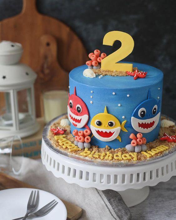 Baby Shark Cake - Baby Shark Party Ideas