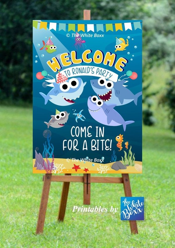 Baby Shark Party Welcome Sign - Baby Shark Party Ideas