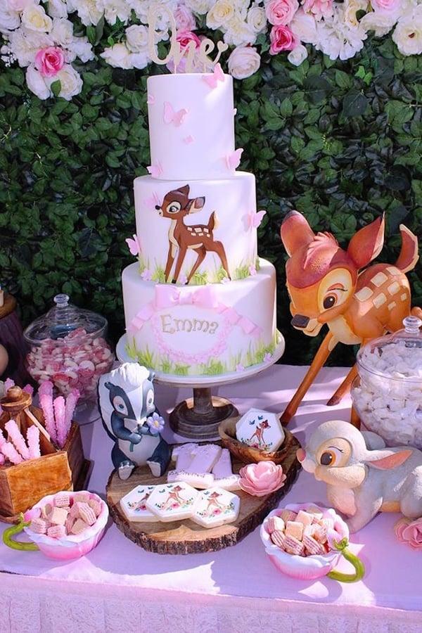 Bambi 1st Birthday Cake - Bambi Party Ideas