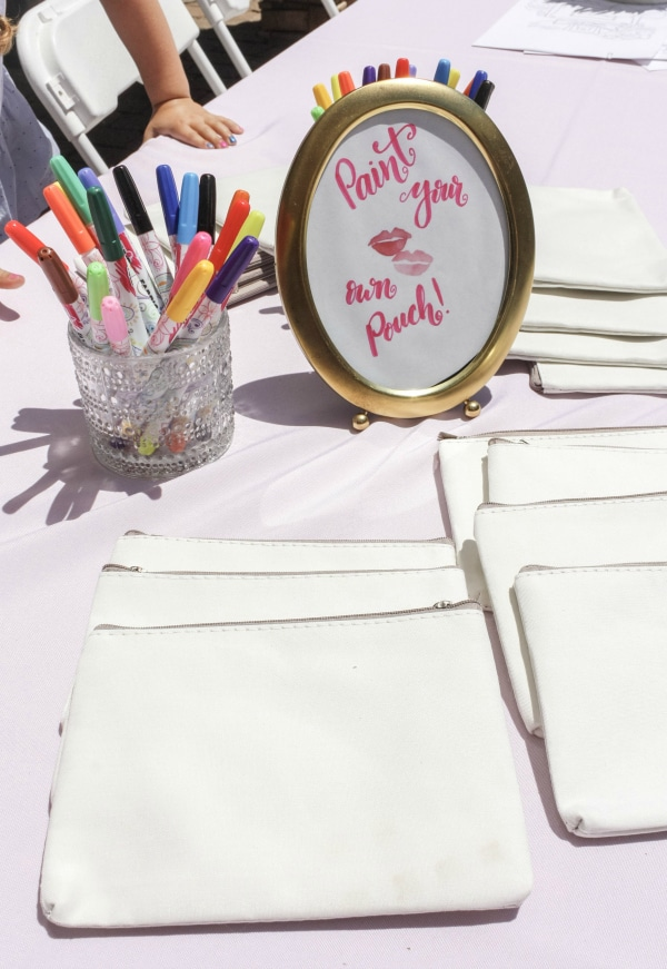 Painting Station Activity - Beauty Party Ideas