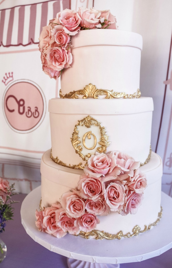 Beauty Boutique Birthday Party Cake
