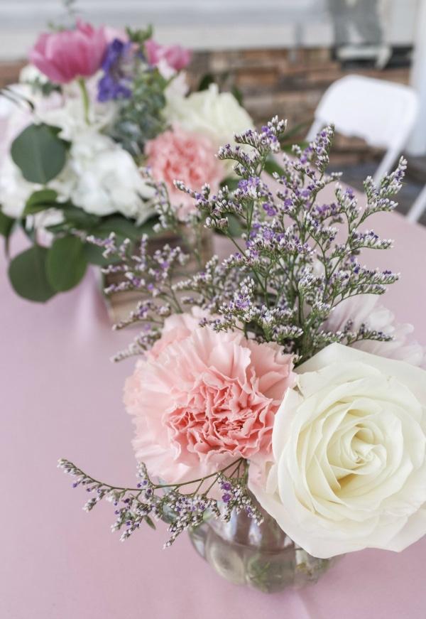 Beauty Party Flower Centerpieces
