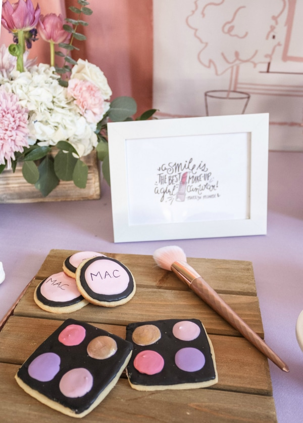Beauty Boutique Birthday Party Makeup Cookies