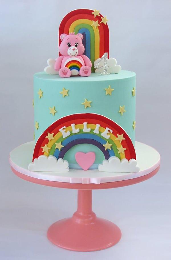 Care Bears Birthday Cake - Care Bears Party Ideas