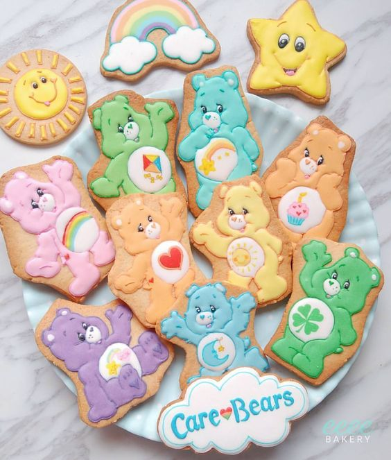 Care Bears Cookies - Care Bears Party Ideas