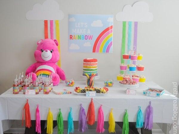 Care Bears Dessert Table - Care Bears Birthday Party Ideas
