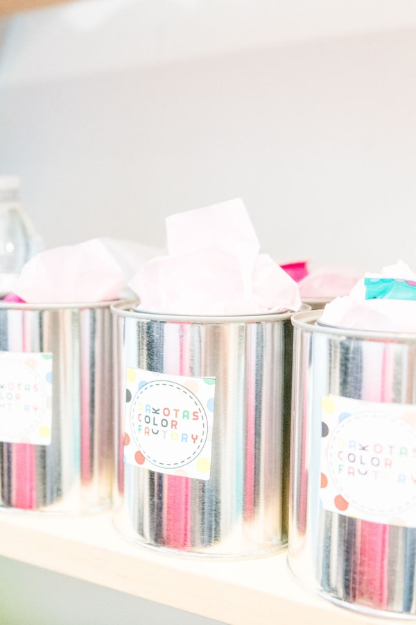 Rainbow Color Factory Party Favors on Pretty My Party